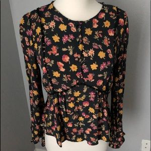 Zara TRF Collection Floral blouse